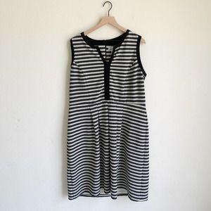 Shelby & Palmer Striped Plus Size Sheath Dress